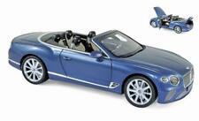 NOREV 1:18 AUTO DIE CAST BENTLEY CONTINENTAL GT CONVERTIBLE 2019 BLU  ART 182785