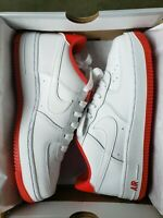 """Nike Air Force 1 GS """"White University Red"""" (CD6915-101) - Sizes 5-7"""