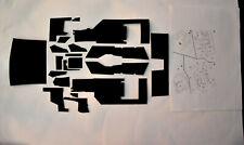SCHWARZ selbstklebende Teppichsatz 1/8 lamborghini aventador pocher hornby lego