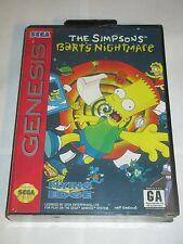 Simpsons: Bart's Nightmare (Sega Genesis, 1993) NEW Factory Sealed