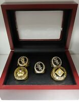 Chicago White Sox - World Series 5 Ring Set WITH Wooden Box. Thomas,Konerko, Dye