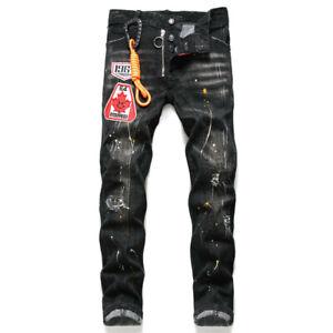 W38 Dsquared2 Men/'s Slim Fit Jeans Paint Splatter Distressed Sizes W28