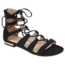 Womens Ladies Lace Up Cross Over Wrap Around Strappy Gladiator Sandals Shoes Siz