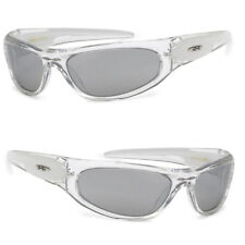 X-Loop Sport Cycling Fishing Golfing Wrap Around Sunglasses Tinted Mirror Lens