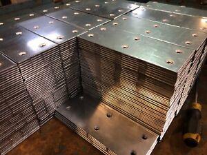 HEAVY DUTY FLAT STEEL CONNECTOR STRAP PLATES DECKING TIMBER JOIST BRACKET