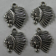 Free shipping 25pcs Retro style lovely Head portra alloy charms Pendants 20x19mm