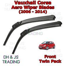 (06-14) Vauxhall Corsa D Aero Wiper Blades / Front Windscreen Flat Blade Wiper