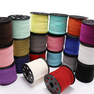 10 Yards Flat Faux Suede Leather Cord Flat Thread DIY Bracelet Jewelery String