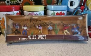 Vintage Timpo Wild West Cowboys Action Figures Boxed and Sealed
