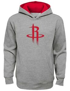 """Houston Rockets Youth NBA """"Prime Time"""" Pullover Hooded Sweatshirt - Gray"""