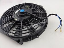 "UNIVERSAL 12V SLIM 10"" PULL/PUSH CAR RADIATOR ENGINE COOLING FAN+MOUNTING"