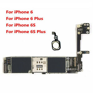 Main Motherboard + Touch ID For iPhone 6 6P 6S Plus 64GB Unlock Logic Board