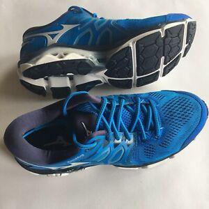 NEW Mens Mizuno Wave Horizon 3 Running Shoes Size 9, Blue