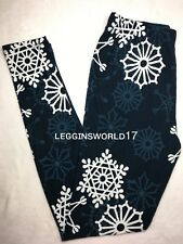 Snowflake Printed Legging Buttery Soft and Comfortable Women Legging One Size