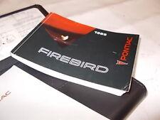 Pontiac Firebird 3,4 Gen.4 EZ 95 Bedienungsanleitung Bordbuch Handbuch Anleitung