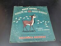 """Gene Autry """"Rudolph The Red Nosed Reindeer"""" 78 rpm Record Columbia #MJV 56-1 #2"""