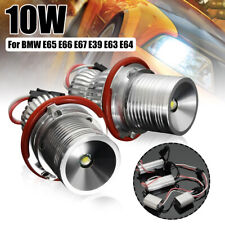 Pair 10W LED Angle Eye Halo Ring Light White Xenon HID Bulbs For BMW E39 E60 E64