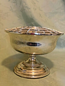 Silver Plated Pedestal Rose Bowl