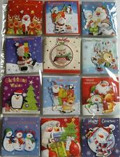 24 CHRISTMAS GIFT TAGS - EMBELLISHED ON FRONT - SANTA OWL SNOWMAN REINDEER (590)