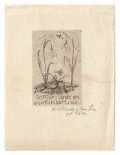W. SCHÜCKE: Geburtsanzeige für Reinhard, 1923