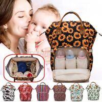 LEQUEEN Mummy Backpack Large Maternity Baby Nappy Diaper Nursing Handbag