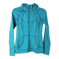 ATHLETA womens size XS Home Team teal space dye zip up athletic hooded jacket
