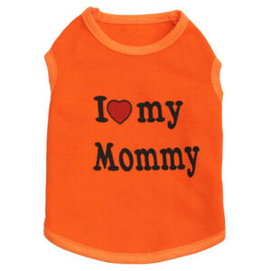 Dog Clothes I LOVE MOMMY DADDY T Shirt, Puppy Dog Clothing F Toy Poodle Maltese