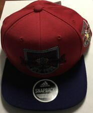 New York Red Bull Adidas Multi Team Colors Two Tone Flat Brim SnapBack Hat Cap