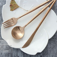 Rose Gold Kitchen Flatware Cutlery Knife Spoon Fork Teaspoon Set Stainless Steel & China Gold Plated Flatware Sets | eBay