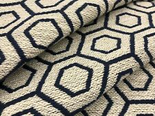 Kravet Indigo Geometric Hexagon Weave Upholstery Fabric 5.50 yds 34301-516