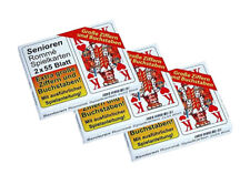 3x Senioren Romme Karten Spielkarten Extra große Ziffern 2 x 55 Blatt