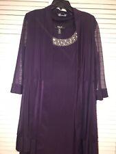 Women's Special Occasion Dress, 2 Piece Plum Color, Size 14