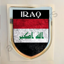 Iraq Sticker Resin Domed Stickers Flag Grunge 3D Adhesive Decal Gel Car Moto