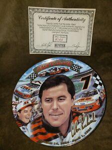 NEW ALAN KULWICKI NASCAR limited edition plate w/COA 22K gold trim RARE