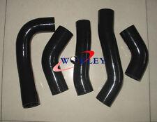 SILICONE INTERCOOLER TURBO HOSE PIPE FOR TOYOTA SUPRA MA70 MK3 7M-GT/7MGTE BLACK