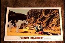 GUN GLORY 1957 LOBBY CARD #2 WESTERN