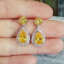 Women Wedding Jewelry AAA Cubic Zirconia Earring Teardrop Drop/Dangle Earrings