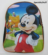 "NEW DISNEY MICKEY MOUSE 16"" BACKPACK 16"" x 12"" CLUBHOUSE BACK PACK 3+"