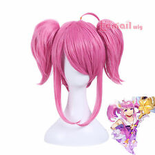 League Of Legends Lux Magical Girl Pink Double Ponytail Medium Cosplay Full Wig