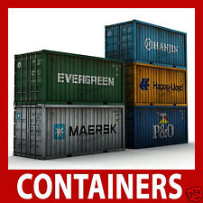 Container Card Kits N Scale 1:160 x 12 Mixed 40ft/45ft N Gauge