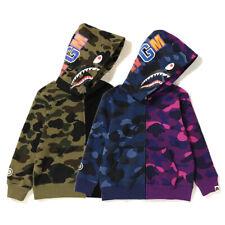 2020 Kids Boy Girl Bape Camo Shark WGM Long Sleeve Sweatshirts Hoodies