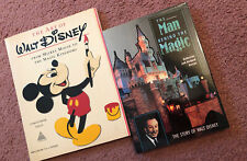 The Art Of Walt Disney, The Man Behind The Magic, 2 Disney Books, Excellent Cond