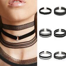 6 Pcs/Lot Women Lace Chokers Necklaces for Women Collares Black Velvet Necklaces