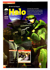 Halo Combat Evolved PC Xbox Vintage Promo Poster / Ad Art Advertisement