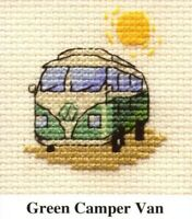 VW Camper Van Counted Cross Stitch Kit -Mouseloft - Needle, Threads, Aida & Card
