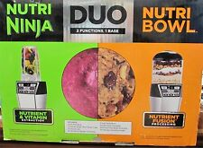 Nutri Ninja Nutri Bowl DUO with Auto-iQ Boost NN100 30 NEW OPEN BOX