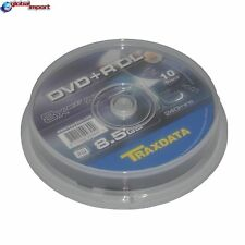 50 DVD+R DL TRAXDATA DUAL DOUBLE LAYER 8X 8.5GB 240M CAMPANA SPINDLE IN CAKE BOX