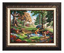 Thomas Kinkade Winnie The Pooh I Canvas Classic (Aged Bronze Frame)