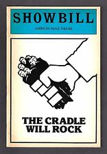 """Patti LuPone (Signed) """"CRADLE WILL ROCK"""" Marc Blitzstein 1983 Revival Playbill"""