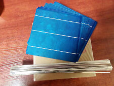 100pcs 6x6 Poly Solar Cells 4.23W with Tabbing, bus wires, junc/box No Tax in EU